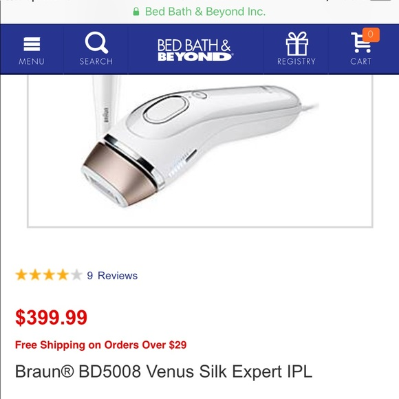 Braun Other Gillette Venus Silk Expert Ipl Hair Removal Poshmark